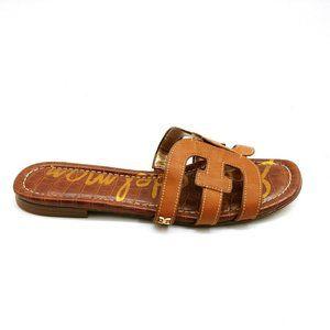 Sam Edelman Bay Slide Sandal Brown Leather 9
